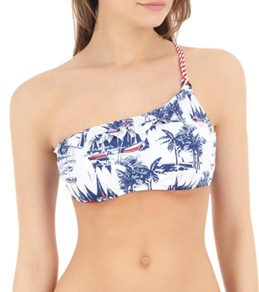 Sperry Top-Sider Women's Anything Boat Ordinary Ruffle One Shoulder Bandeau Top