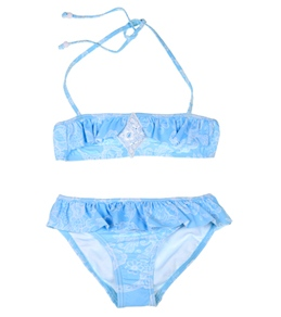 Seafolly Girls' Dear Diary Mini Tube Bikini Set (6-16yrs)