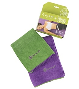 Gaiam Thisty Yoga Towel 2-Pack