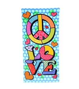 "Kaufman Sales Peace Love Towel 30"" x 60"""