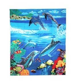 "Kaufman Sales Dolphin Beach Blanket Towel 60"" x 70"""