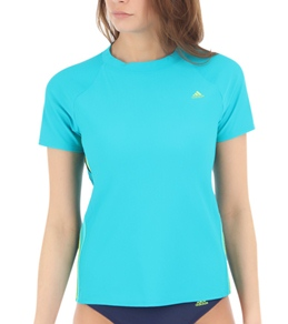 Adidas Classic 3 Stripe Side Splice Swim Tee
