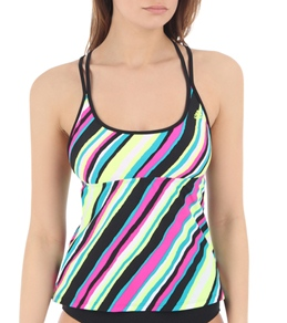 Adidas Bias Stripe Tankini Top