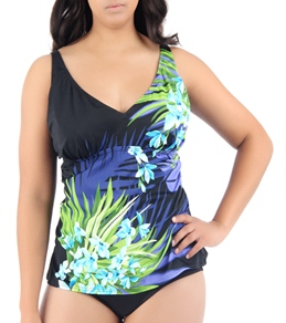 Jantzen Torrid Bloom Twinkle D-Light Plus Size Tankini Top
