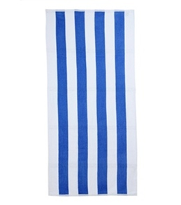 "Royal Comfort Cabana Stripe Terry Velour Beach Towel 30"" X 62"""