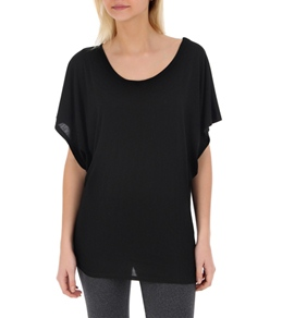 Alo Women's Short Sleeve Stitched Yoga Crew Neck