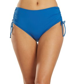 Beach House Solid Adjustable High-Waisted Side Tie Bottom