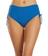 Beach House Swimwear Solid Adjustable High-Waisted Side Tie Bikini Bottom