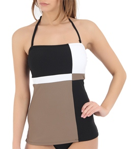 Beach House Academy Color Block Bandeau Tankini Top