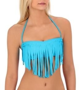 Roxy Women's Surf Essentials Fringe Bandeau Top
