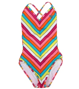 Roxy Kids' Caliente Sun Cross Over Monokini (7-16)
