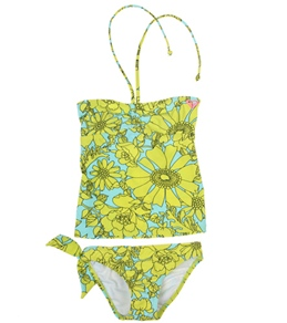 Roxy Kids' Sea Doll Drawstring Tankini Set (7-16)
