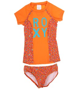 Roxy Kids' Sand Blossom S/S Rashguard Set (2T-6X)