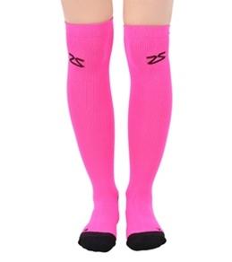 Zensah Neon Compression Running Socks