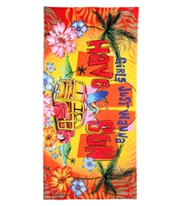 S B Designs Girls Just Want To Have Fun Towel
