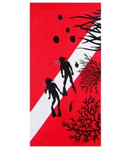 S B Designs Diver 30x60 Towel