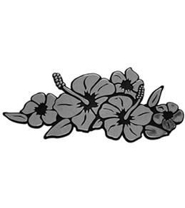 "Wet Products ""Hibiscus Bouquet"" Car Emblem"