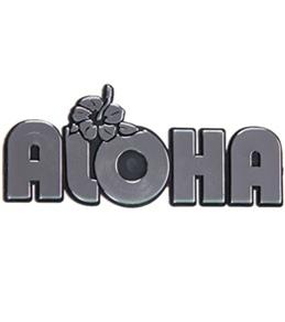 """Wet Products """"Aloha"""" Car Emblem"""