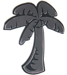 "Wet Products ""Palm Tree"" Car Emblem"
