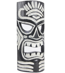 Wet Products Tiki Mask Black & White 12""