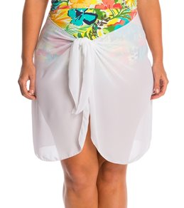 Dotti Plus Size Sarong, So Right Short Pareo