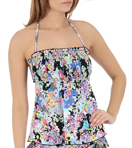 Kenneth Cole Reaction Spring It On Smocked Tubini Top