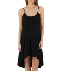J. Valdi Crepe Hi/Lo Dress