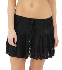 J. Valdi Texture Tiered Skirt
