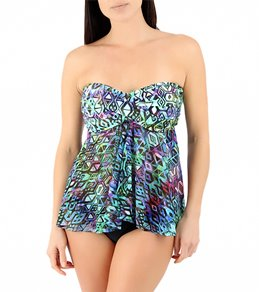Profile by Gottex Aztec Mesh Flyaway Tankini Top