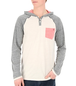 Volcom Men's Tempest Hooded Henley Raglan