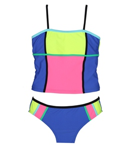 Gossip Girl Color Pops Tankini Set (7-16)