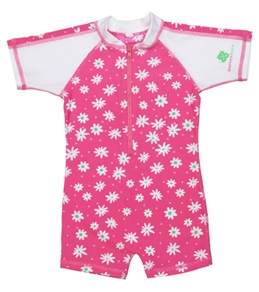 Snapper Rock Baby Girls' Hot Pinky Daisy S/S Sunsuit (0-2yrs)