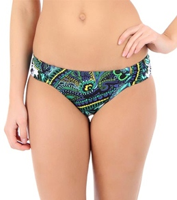 Laundry By Shelli Bohemian Rhapsody Ruched Side Hipster Bottom