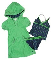 Cabana Life Girls' Anchors Away Swim & Terry Cover Up Set (4-6X)