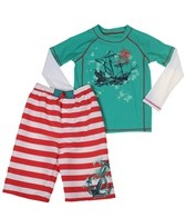 Cabana Life Boys' Anchor Away Rashguard Set (2T-7)