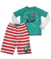 Cabana Life Boys' Anchor Away Rashguard Set (8-14)
