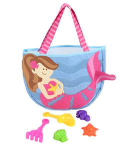Stephen Joseph Kids' Mermaid Beach Tote (Includes Sand Toy Set)