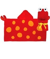 Stephen Joseph Kids' Crab Hooded Towel