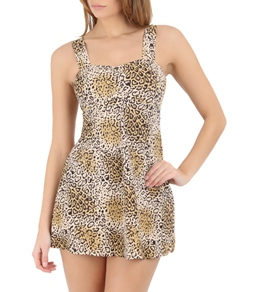 Ujena Leopard Swim Dress Top