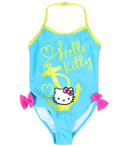Hello Kitty Girls' Nautical Halter One Piece (12mos-6X)