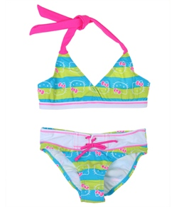 Hello Kitty Girls' Nautical Triangle Bikini Set (4-14)