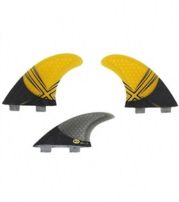 Kinetik Racing Andy Irons Carbo Tune Tri Fin Set  - M - FCS