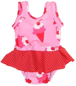 iPlay Girls' Swim Diaper Skirty Tanksuit