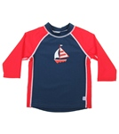 iPlay Boys' 3/4 Sleeve Rashguard (6mos-4T)