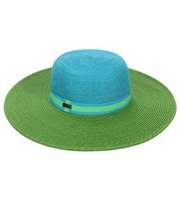 Sun N Sand Elena Two Ribbon Trim Straw Hat