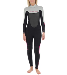 Billabong Women's Synergy 302 Back Zip Flatlock Fullsuit