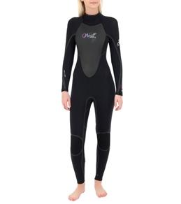 O'Neill Women's D'Lux 3Q-Zip FSW 4/3MM Wetsuit