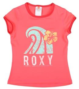 Roxy Girls' Sea Side Summer Breeze S/S Rashguard (7-16)