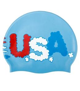 Sporti Junior Patriotic Silicone Swim Cap
