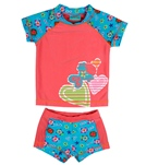 Jump N Splash Girls' Fish S/S Rashguard Set w/FREE Goggles (4-12)
